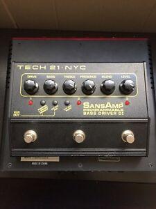Tech 21 NYC SansAmp Programmable Bass Driver DI Kitchener / Waterloo Kitchener Area image 1