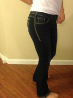 WOMANS - SILVER ~ AIKO BOOT CUT JEANS, Size W/26 L33