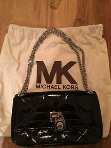 Michael Kors black patent leather quilted bag BRAND NEW