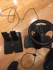N64 steering wheel and pedals