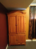 Large wood cabinet dresser (Armoire) for sale