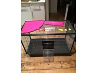 Savic cage Zeno 3 KD in silver! For small animals rats rabbits Guinean pigs Rpr 120£