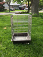 "Stainless steel bird cage for sale! 30"" h x 18.5"" w x 18.5"" d"