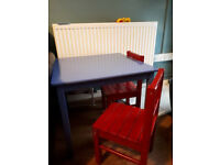 ikea childs table & chairs