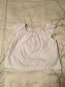 Girl's 12-18 Month White Eyelet Shirt **READ DESCRIPTION**
