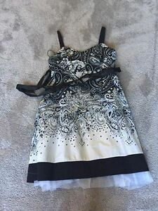 black and white knee length coctail dress