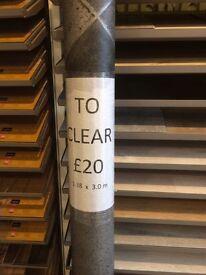 New Grey Vinyl Floor 1.38 x 3 Metres