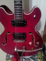 1960s Kent arch top f-hole guitar with tremelo $325 or trades