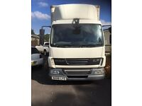 Daf lf 45.160 year 2008 7 and half tone 22ft box Lorry with tail lift with ad blue