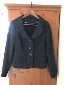 Black patterned Jacket - Size 10
