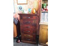 Tall wooden chest of drawers. For dining or living room