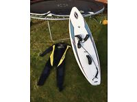 Kite surfboard & wetsuit - repost