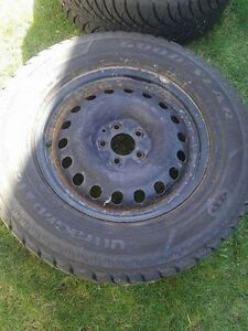 Set of 4 Good Year Ultragrip Winter Tires and Rims