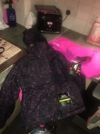 Trespass ski coat and trousers new with tags