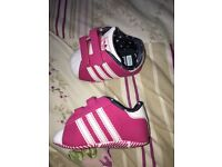 Adidas baby shoes, next baby shoes and M&S baby shoes