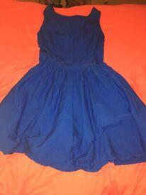 Size 8 dress blue