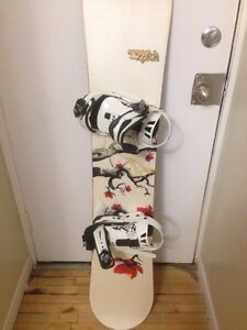 Snowboard, bindings & size 7 boots