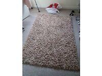 Cream Shaggy rug 120x170