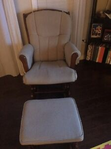 Beige glider and ottoman Kitchener / Waterloo Kitchener Area image 1