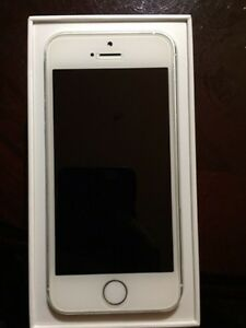 iPhone 5s silver like new condition.