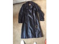 Steampunk style double breasted leather coat