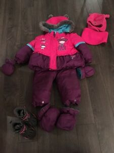Habit de neige 12 mois et accessoires