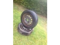 Used 175/65/14 very good tyre on vauxhall corsa 4 stud rim 07594145438
