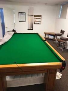 4.5'x9' vintage ashwood snooker table