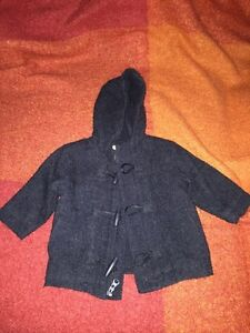 Old navy winter Black Pea coat 6-12 months