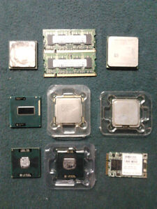 -- Lot de CPU Intel Core i3, Core 2 Duo, Pentium 4, AMD, RAM --