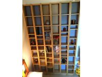 IKEA bookshelves/DVD/CD Oak effect