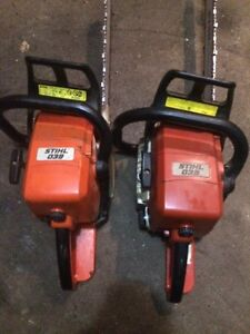 Pair of 039 Stihl chainsaws