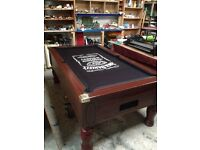 Pool tables slate bed pub style