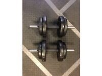 15kg Vinyl Spinlock Dumbbell Set