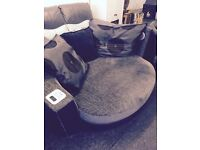 Dfs 2 seater cuddle sofa with docking station + 1 large swivel cuddle chair £295 includes delivery