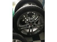 "17"" Honda Civic type r alloy wheels rims with tyres"