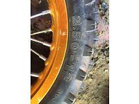 "12"" pit bike front wheel"