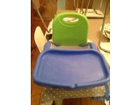 Fisher Price booster chair with straps and removable tray