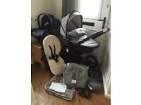 Unisex Silver Cross Eton Grey Special Edition Surf 2 With Car Seat