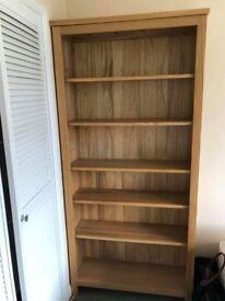 Tall Free Standing wooden bookshelves