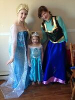 Frozen princess birthday party with Anna and Elsa