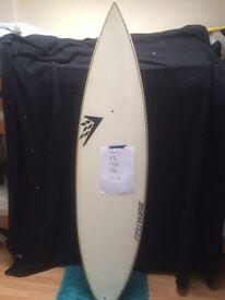 6'2 FireWire surfboard
