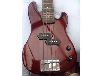 Tanglewood Elfin bass guitar EB-18. A mini Precision bass! Never been gigged. Ideal travel bass.