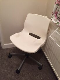 White IKEA swivel office desk chair