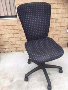 Black & Blue Office Chair Beckenham Gosnells Area Preview