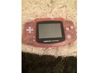 Pink Nintendo advance Gameboy