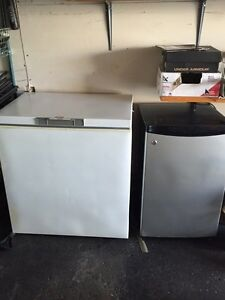 Freezer and fridge up for sale at $150