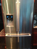 10 month used electrolux stainless steel fridge couterdepth   al