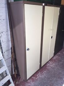 Storage. Metal 2 door cabinet. Racking. Bookcase. Lockable.