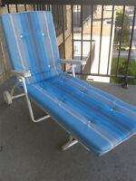 Like New Blue Reclining Patio Chair